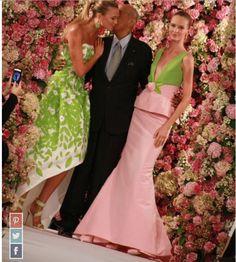 Oscar de la Renta - Pink & Green Dresses