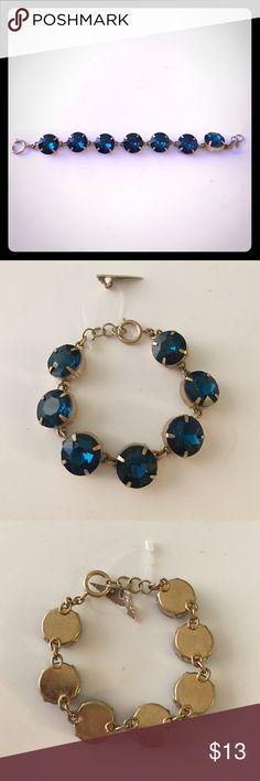 "🎀🆕Sapphire and Silver Toned Bracelet🎀 Beautiful sapphire blue and silver toned bracelet. 7 1/2"" long, sparkling!! Jewelry Bracelets"