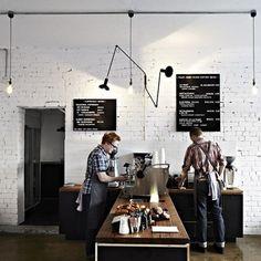 wnetrze kawiarni/ pomysl na kuchenne kolory
