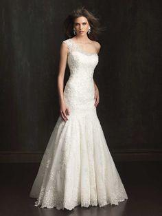 c9e1ea0f0974 One Strap Wedding Dresses — (via Classic Formal Hollywood Glam Modern  Modest.