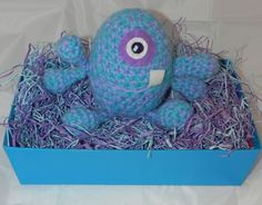 Monster Easter Egg, READY TO SHIP, Large Easter Egg, Easter Basket, Easter Basket filler, Baby's First Easter, Baby's First Easter Basket by Craftileslie on Etsy