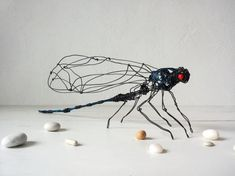 Dragonfly Decor Wire Art Dragonfly Sculpture Bug Decor