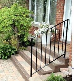 Window boxes outdoor planters contemporary garden designs gardens pinterest railing - Railing planters lowes ...