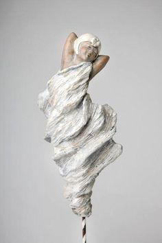 Pascale Gautron-Davy - Artiste sculpteur Sculptures Céramiques, Art Sculpture, Pottery Sculpture, Paper Clay Art, Clay Figures, Dance Art, Statue, Art Plastique, Ceramic Art