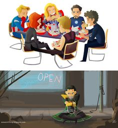Yeah, I was wondering where Loki was during that scene, because Thor was there...