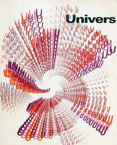 Univers type specimen cover, Rémy Peignot (1960) #chromatictype @NovoTypo via @donald_soutar