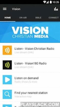 Vision Christian Media  Android App - playslack.com ,  Uplifting Christian content to listen, read and watch all in one app - connecting faith to your life every day.Vision Christian Media has been broadcasting and publishing in Australia for years (you may have known us previously as UCB), and now it all comes together in this one great app.By the way - this app requires an internet connection to use. So you don't get caught with a surprise, please check that you have a data plan with…