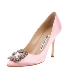 MANOLO BLAHNIK HANGISI 105 CRYSTAL PUMPS $675.00