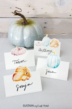 Free Printable Thanksgiving Place Cards