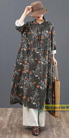 Loose Spring Floral Cotton Linen Dresses For Women 6119 - Pakistani dresses Dresses For Teens, Simple Dresses, Outfits For Teens, Casual Dresses, Linen Dresses, Women's Dresses, Fashion Dresses, Cotton Dresses, Boho Fashion