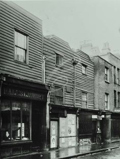 Poplar High Street, 1930 Vintage London, Old London, Vintage Shops, London Street, London City, London Metropolitan, Weatherboard House, Tower Hamlets, East End London