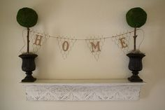 Chicken Wire Pennant Banner
