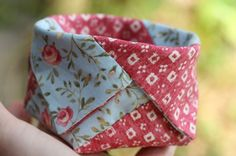 DIY: little patchwork basket - looks interesting