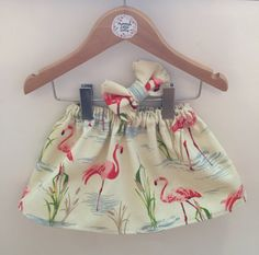 Flamingo print summer baby girls skirt and by Mummyslittledolly