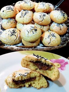 Cookies πορτοκαλιού γεμιστά με μερέντα !!!! ~ ΜΑΓΕΙΡΙΚΗ ΚΑΙ ΣΥΝΤΑΓΕΣ 2 Greek Sweets, Butter, Scones, Biscuits, Cookies, Recipies, Muffin, Snacks, Baking