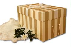 This is a gorgeous box for your spectacular, gorgeous wedding gown! Storage Boxes With Lids, Decorative Storage Boxes, Wedding Dress Preservation, Hat Boxes, Ring Pillow, Box With Lid, Wedding Gowns, Store, Handmade