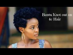 How to Bantu Knot out on 4c Natural Tapered Hair - YouTube