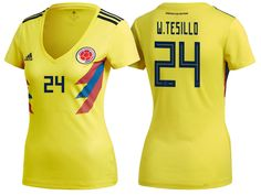 8b1380f8e Women 2018 Colombia World Cup Home Jersey Women 2018 Colombia World Cup  Home Jersey