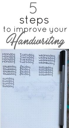 These 5 Simple tips will help improve your day-to-day handwriting