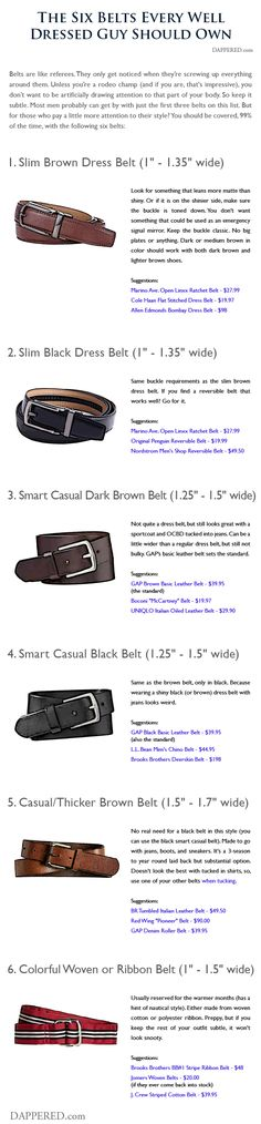 The 6 Belts Every Well Dressed Guy Needs   Dappered.com