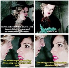 "Awesome Regina and Zelena lol I always loved the way she said ""abandoned you."" She knows how to make things have kick."