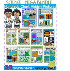 Mystery Pictures-Hundreds Charts- Integrate Math & Science Science Lessons, Science Activities, Fun Math, Math Games, Number Puzzles, Hundreds Chart, Hidden Pictures, Elementary Math, Math Resources