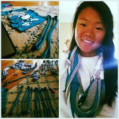 DIY tshirt scarf scarv