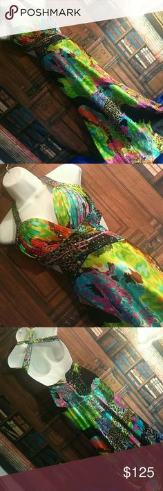 Open side mermaid style dress Used 1x Adrianna Papell Dresses Prom