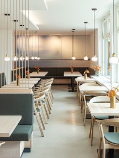 Kurhaus Marienkron, Umbau, Fastenhotel, Tooy, XAL, Molto Luce, Prostoria Interior Design Inspiration, Restaurants, Conference Room, Chair, Table, Furniture, Home Decor, Cafes, Modern Restaurant