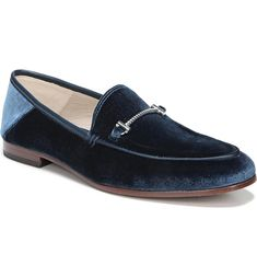 60dcb140223a7 SAM EDELMAN Lior Loafer $119.95 Loafers For Women, Loafers Men, Blue Suede  Shoes,
