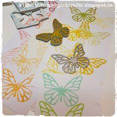 SARI HÄNNINEN - THE NORSU GIRL CRAFTS make your own stamps, butterfly, fjäril, die,