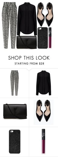 """""""street style"""" by sisaez ❤ liked on Polyvore featuring DAY Birger et Mikkelsen, Joseph, Yves Saint Laurent, Zara, BaubleBar and NARS Cosmetics"""