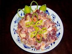 Ruský salát. Z červené řepy. Receptura 50159 Hawaiian Pizza, Food And Drink, Beef, Chicken, Detox, Meat, Steak, Cubs