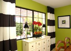 Color block curtains made from two pair of okea curtaind Show + Tell: JANUARY 12 in TWELVE TUTORIAL