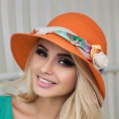"""""""White, Red, Blue, Yellow, Orange linen bucket hats womens One size, from 7 to 7 1/4 US size - 21.5\""""- 22.5\"""" , (M-L international - 55-58 cm) Color: different colors available. Please select from the drop-down menu. Material: linen Made to order during 5 work days Elegant cloche linen hat can become a favorite summer accessory of a modern fashionista. The classic form of the headdress with a comfortable tulle and straight slightly lowered fields emphasizes the subtlety of female nature. Finishi Crochet Crown, Summer Hats For Women, Summer Accessories, Natural Linen, Headdress, Sun Hats, Ukraine, Bucket Hat, Drop"""
