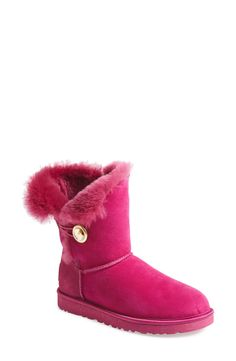 UGG® 'BaileyButton - Ornate'Boot in Peony(Women)