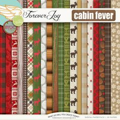 CABIN FEVER papers CABIN FEVER pretties | Digital Scrapbooking | by ForeverJoy Designs