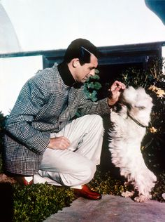 Cary Grant with a Westie or Cairn terrier?