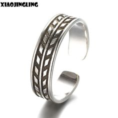 XIAOJINGLING Classic Adjustable Toe/Foot Ring Finger Ring Women Jewelry Fashion Silver Vintage Retro Rings For Men Birthday Gift