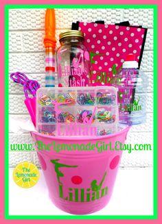 PERSONALIZED Basket, Kid Birthday Gift, GYMNASTICS, Sports, Choose Your Theme, Personalized Gymnastics, Personalized Sports, Boy Girl