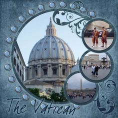3 picture scrapbook layout | Layout: Rome - Vatican - Page 3