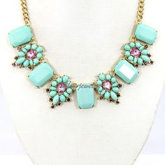 Statement Necklace, turquoise Necklace Bubble Necklace, Beaded Necklace,  Bib Wedding Party/Holiday Jewelry  FN996995 on Etsy, $14.40