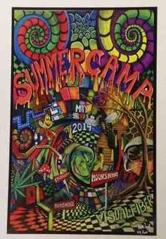 2014 Summercamp Music Festival 3D Poster   Matt from Visual Fiber has done it again! This time its the poster he did to commemorate the 2014 Summercamp Music Festival. It's a fan art designed limited edition poster with colors and graphics that will blow your mind. Put on the 3D glasses that come with this poster and hold on tight! #sunshinedaydream #hippieshop