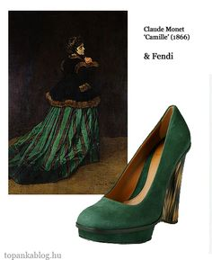 Painting by Claude Monet, shoes by Fendi