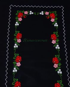 Thank God for one more work es # rosa # redroses . Hand Applique, Applique Patterns, Knitting Stitches, Knitting Patterns, Thank God, Red Roses, Cross Stitch, Embroidery, Flowers