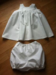 Ensemble robe bloomer taille 12 mois idéal cérémonie bâptème : Mode Bébé par misslilim sur ALittleMarket