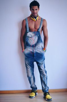 Blue Denim Sleeveless Jumpsuit Steps Out Of Menu0026#39;s Boiler Room And Into The Streets. | Www ...