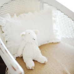 New Arrivals Crib Bedding Velvet Baby Ivory @Layla Grayce