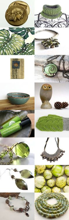 Greenish by Janet Mealha on Etsy--Pinned with TreasuryPin.com