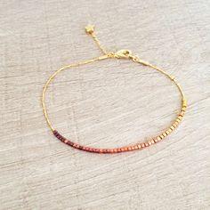 Bracelet Multirangs Mulitcolore Perles & Chaînes par Kurafuchi